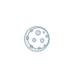 Full moon satellite isometric icon 3d line art vector
