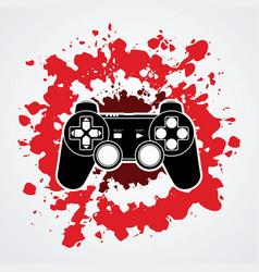 game joystick graphic vector image