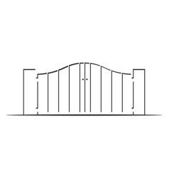 gate way logo design template vector image