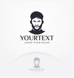 gentleman logo design vector image