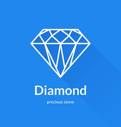 Geometric faceted diamond shape logo vector
