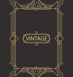 geometric frame in art deco style vector image