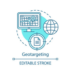 Geotargeting turquoise concept icon geolocation vector