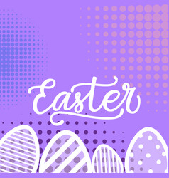 happy easter background hand drawing greeting card vector image