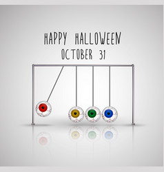 Happy halloween background with hanging eyes vector