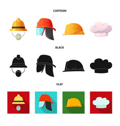 Isolated object of headgear and cap symbol vector