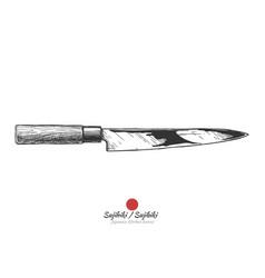 japanese kitchen knife vector image