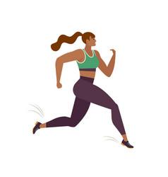 Jogging prson runner in motion running women vector