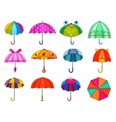 kids umbrella childish umbrella-shaped vector image