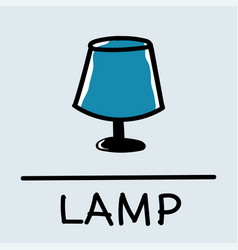 Lamp hand-drawn style vector