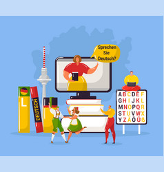 Learning german language in germany education vector