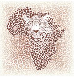 Leopard seamless pattern background vector