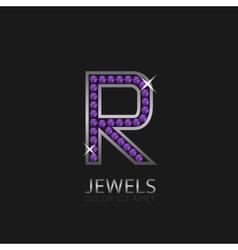 Letter R logo vector
