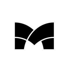 m letter logo vector image