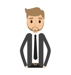 man male avatar suit person icon vector image