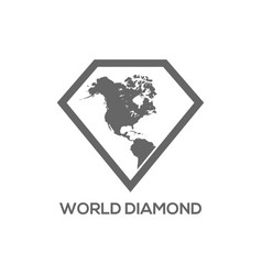 map diamond logo vector image