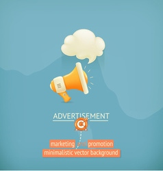 Marketing and promotion minimalistic background vector