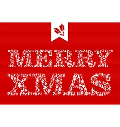 Merry Christmas icons text composition vector