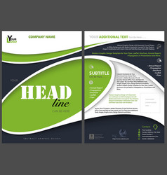 Modern flyer template with abstract shapes vector