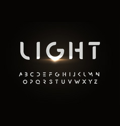Modern font design in simple style minimal vector
