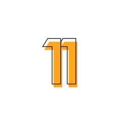 Number 11 template design design for anniversary vector