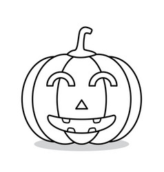 outline halloween pumpkin vector image