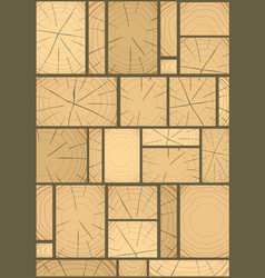 Panels made of wood vector