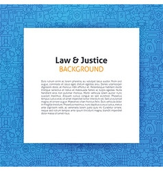 Paper Template over Law and Justice Line Art vector