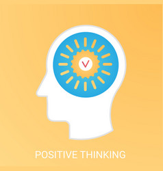 Positive thinking concept modern gradient vector
