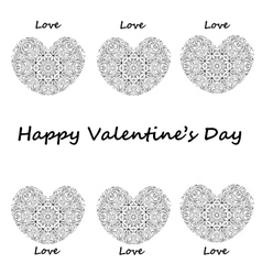 Postcard happy Valentines day hearts with vintage vector image