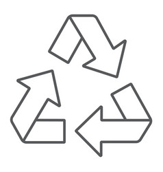 recycle thin line icon ecology and protection vector image