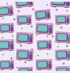 Retro television background vector