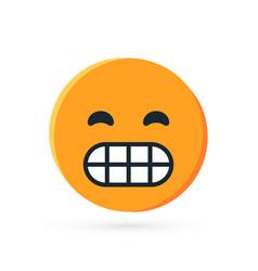 Round yellow emoji in flat style vector