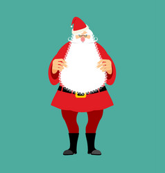santa claus isolated granddad in red suit and vector image