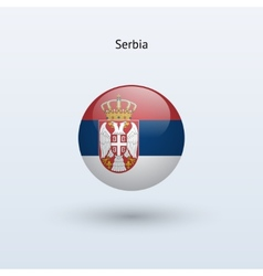 Serbia round flag vector image