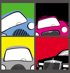 set images cars vector image