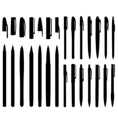 Set of different ballpoint pens vector