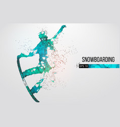 Silhouette of a snowboarder vector