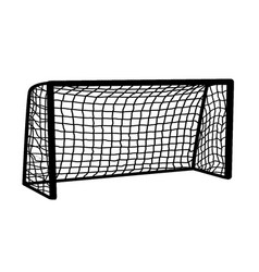 soccer goal on white background vector image