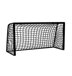 Soccer goal on white background vector