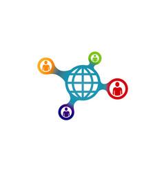 social world logo vector image