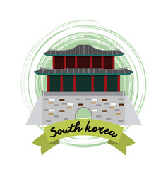 south korea culture vector image