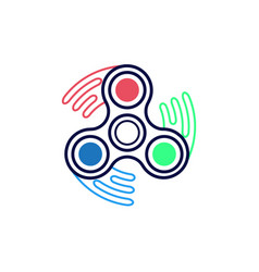 Spinner icon outline style vector