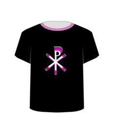 T Shirt Template- Monogram of Christ vector image