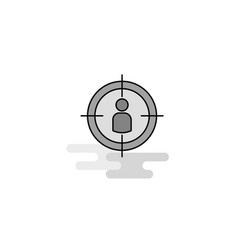 target web icon flat line filled gray icon vector image