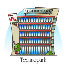 Technopark building or it company office vector