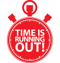 Time is running out stopwatch icon vector