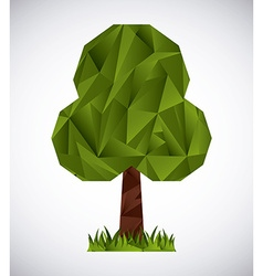 trees origami vector image