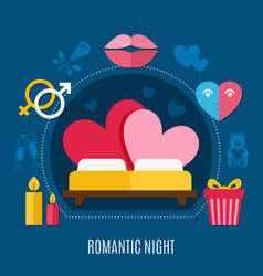 valentines day flat composition vector image