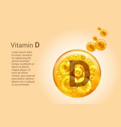 Vitamin d baner with images golden balls vector
